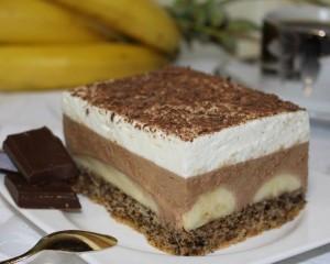 Ciasto bananowe z czekoladą