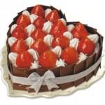 Tort walentynkowy w kształcie serca